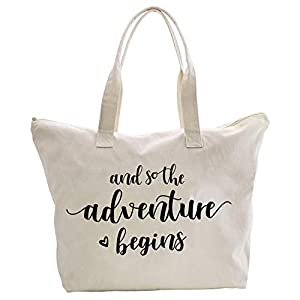 Best Epic Trends 41NO1UeVaQL._SS300_ ElegantPark Bridal Shower Gifts for Bride Bag Bride to Be Gifts And so the Adventure Begins Honeymoon Engagement…