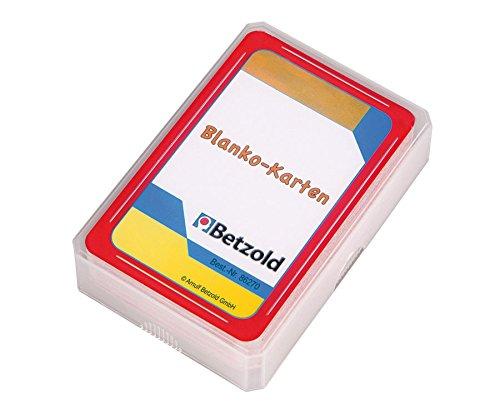 Betzold 48 Karten, Blanko Karten, Kartenspiel, zum Selbstgestalten und Beschreiben, im praktischen und stabilen Kunststoffetui