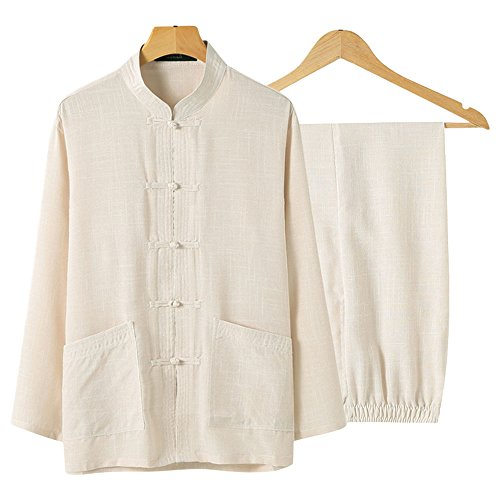 ZooBoo China Clothes Tang Shirt Martial Arts Kung Fu Short Sleeve Shirt