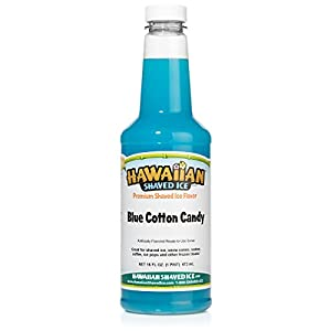 Hawaiian Shaved Ice Blue Cotton Candy Snow Cone Syrup, 1 Pint