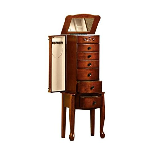 Dark cherry jewelry armoire 28 images quot morgan quot for Solid wood jewelry armoire mirror