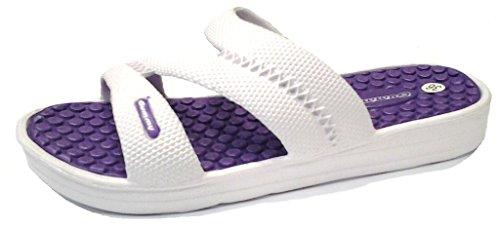 DEMA Ciabatte pantofole donna in gomma mod. CINZIA Bianco