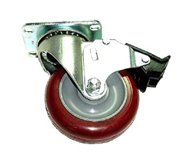 "Colson Swivel Brake Caster with Hi-Tech Polyurethane 5"" Wheel and Anular Bearing"