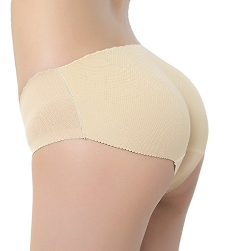 Brief Shaper Panty - AIMILIA Women's Butt Lifter Hip Enhancer Shapewear Padded Briefs Control Panties Body Shaper