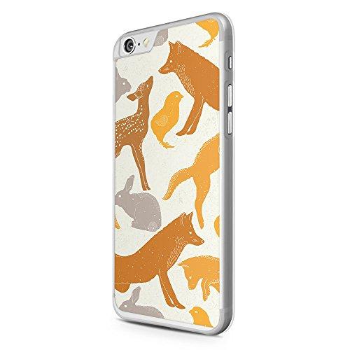 iPhone 6 & 6S Hülle - Fuchs Hasen Muster - Hardcase Cover Case Schale Schutz Schutzhülle Pattern Design Rabbit Fox Hase Füchse