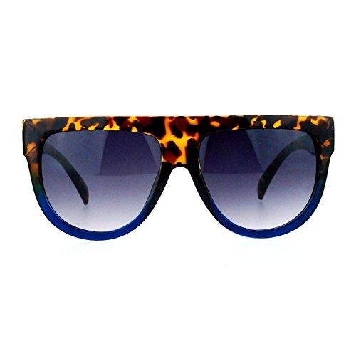 SA106 Retro Oversized Flat Top Mafia Mobster Thick Plastic Fashion Sunglasses Tort - Mafia Glasses