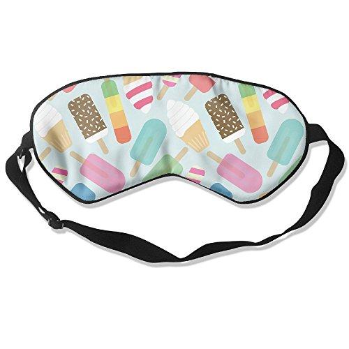 100% Silk Sleep Mask Eye Mask Colorful Ice Cream Soft Eyeshade Blindfold With Adjustable Strap For Men Women And Kids For Sleeping Travel Work Naps Blocks Light