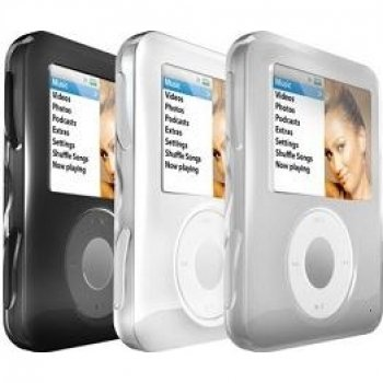 iSkin Groove Pack for iPod nano - Silicone - Ghost White, Bl