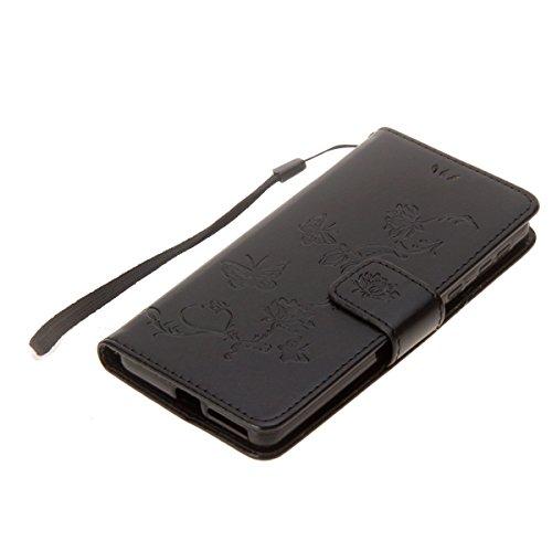 en Protection Xperia Fleur de Case Xperia de Coque XA1 Sony Homme Herbests XA1 Sony Femme Papillon Flip Sony XA1 Etui Etui Xperia Relief Coque pour pour Mince Ultra Noir Magnétiq Cover Rabat Housse Fille à Y7xOwYq
