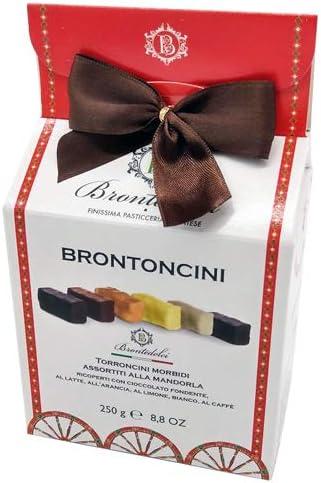 Turrón blando de Sicilia - Caja de regalo 250g - Diferentes gustos. De chocolate negro clásico con sabor a limón, de fuerte sabor del café, el más delicado de vainilla.: Amazon.es: Alimentación