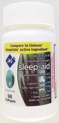 Member's Mark (AKA Simply Right) Maximum Strength Sleep Aid - 96 SoftGels