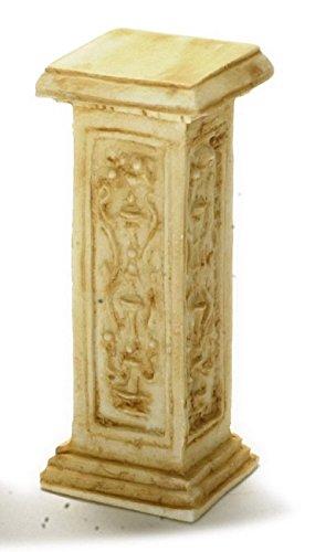 Dollhouse Pedestal - Dollhouse Miniature Tan French Pedestal by Falcon Miniatures by Falcon Miniatures