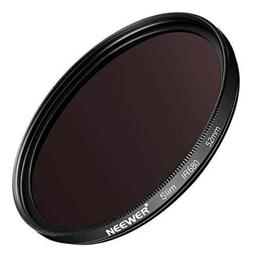 Neewer 52MM IR680 Infrared X-Ray Filter for Nikon D3300 D3200 D3100 D3000 D5300 D5200 D5100 D5000 D7000 D7100 DSLR Camera, Made of HD Optical Glass and Aluminum Alloy Frame by Neewer