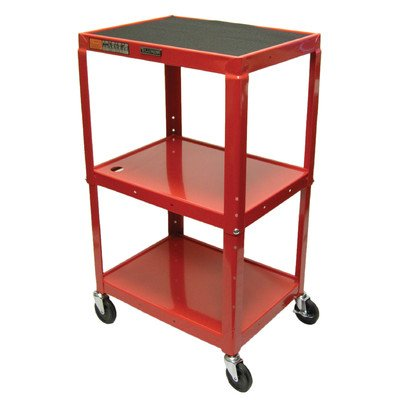 Duraweld AVJ42-RD Luxor Adjustable Height Cart, Four 4