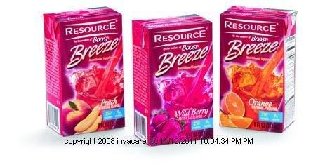 Resource Breeze, Resource Breeze Peach 8oz, (1 CASE, 27 EACH) by Nestle Nutritional by Nestle Nutritional