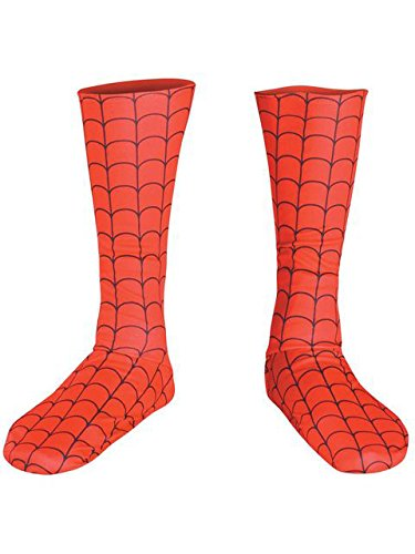 (Disguise Men's Marvel Spider-Man Adult Boot Covers, Red/Black, One Size)