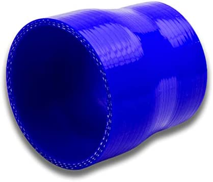 High Temp 4-Ply Reinforced Silicone black 3 Length 3 Length HPS HTSRNBLK-092 3.5-4 ID Silicone Reducer Coupler Hose