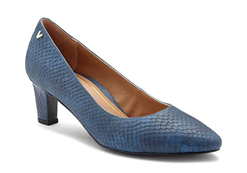 - Vionic Women's Madison Mia Heels - Ladies Pumps with Concealed Orthotic Support Blue Snake 9.5 M US