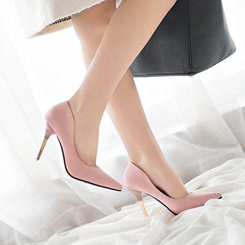 Zapatos Estrecha Mujeres Rosa Punta Zapatos Saihui La Tacones Las de de de Finos de Moda Tacones Altos de 4Rzvqaw