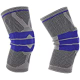 2PCS Adjustable Elastic Knee Support Brace Kneepad Patella Hole Sports Kneepad Safety Guard Strap For Running sports