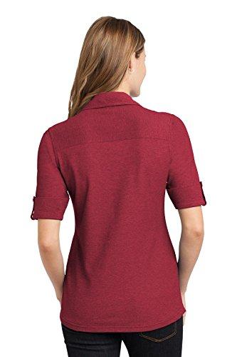 Doble De Bolsillo Mulberry Polo Talla Authority Red Oxford Mujer Port Xs Para Unidades 4 qxawX6nI