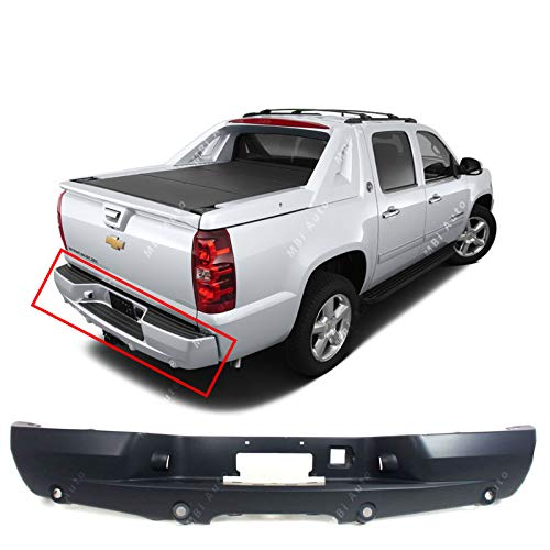 MBI AUTO - Primered, Rear Bumper Cover Replacement for 2002-2006 Cadillac Escalade 2007-2013 Chevy Avalanche 02-13, GM1100629 ()