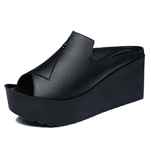 Épais Chaussures Des Cool Filles SHOESHAOGE Fille Plates EU39 Et Chaussons Talons Chaussures Pente Des 78 À UK6 Élégants Portant 6 Hauts Une Avec Sandales wwpqzI