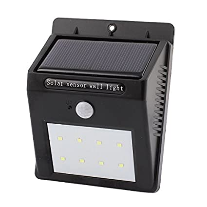 Lâmpada DealMux LED Solar Wall Light PIR CDS Sensor de Movimento 8 LEDs impermeável jardim ao