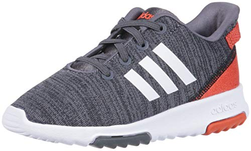 adidas Kids CF Racer TR Running Shoe, Black/White/Raw Amber, 5K M US ()