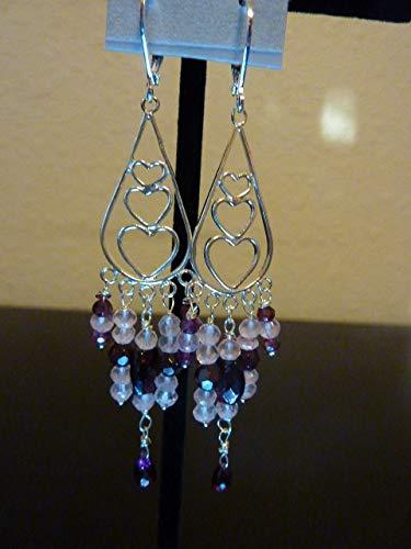 - 3 Hearts Chandelier Earrings