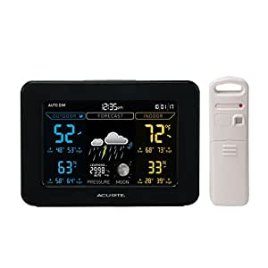 AcuRite 02027A1 Color Weather Station with Forecast/Temperature/Humidity, Dark Theme