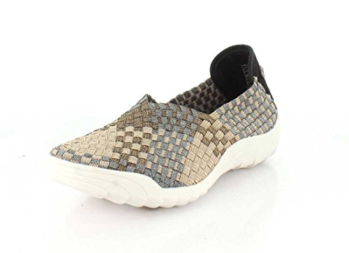 Bernie Mev Womens Rigged Fly Slip-On Light Gold/Bronze/Pewter Combo