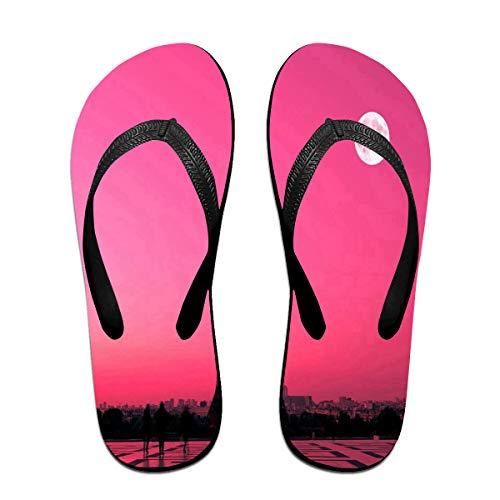 Flip Flops Paris Pink Sunset Women's Beach Slippers Top Sandals for ()