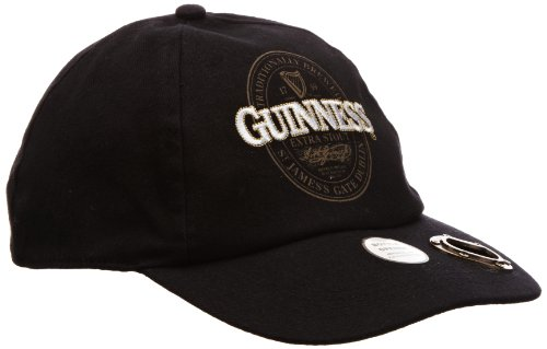 Guinness Official Merchandise Extra Stout Label Bottle Opener Cap Men's Hat