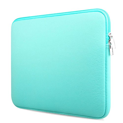 14 Inch Laptop Sleeve, Carrying Cover Handbag with Small Case for MacBook Charger Water Repellent Lycra Sleeve Bag for Apple/Samsung/Sony Notebook Peppermint Green