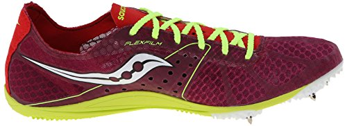 Saucony Mujer Endorphin LD4pista zapatos Berry/Red/Slime