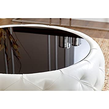 Abbyson Living Havana Round Leather Coffee Table Coffee Table To Add Style  And Practical Functionality To
