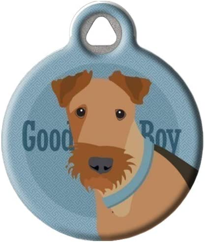 Lakeland Irish Terrier dog ID tag pet ID dog bling hand stamped Airedale Welsh dog gift personalized with your dog/'s name