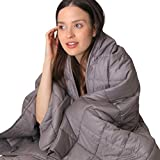 "Nuzzie Weighted Blanket - Luxury Quality, Underpriced - 15lbs Queen Size 60""x80"" for Adults - Breathable 100% Comfortable Cotton - Even Weight Distribution - Durable Double Stitching"