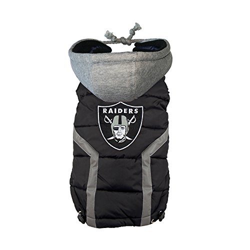 nfl-oakland-raiders-dog-puffer-vest-small