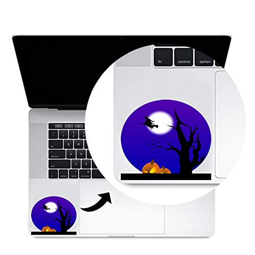Scary Halloween Pumpkin Trackpad Decal Sticker Laptop MacBook Compatible with All MacBook Pro, Clear Printed Decal Sticker Trackpad