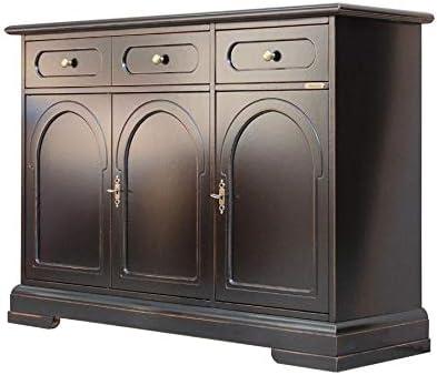 Credenza con 2 cassetti e 3 ante grigio mobile ausiliare con cassetti com/ò per sala da pranzo 100 x 75 x 34 cm soggiorno camera da letto