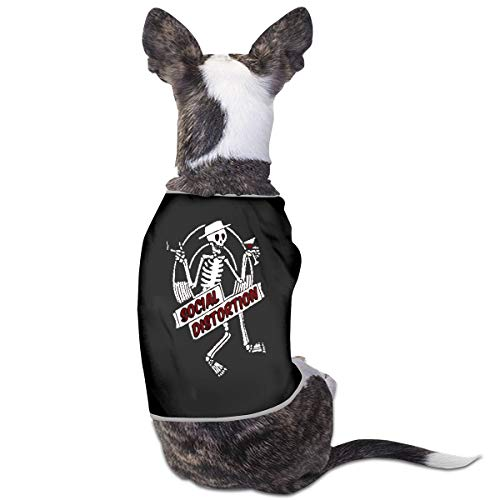 Jacober Social Distortion Skeleton Punk Dog Shirt Clothes Suit for Pet Puppy Tee Shirts Dogs Costumes Cat Tank Top Vest ()
