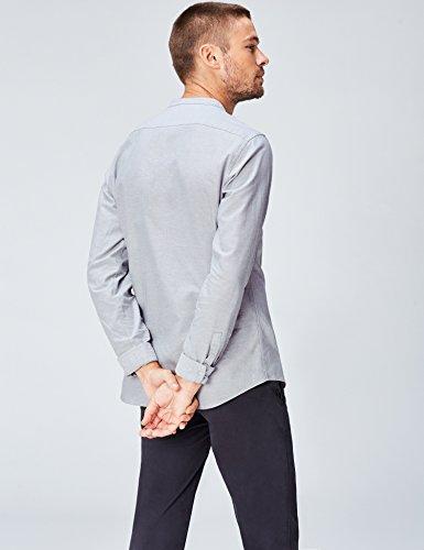 Fit Serafino Uomo Collo Slim Con Find Camicia Grigio Xwaq8qP