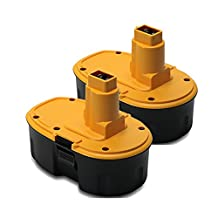 POWERAXIS 18V 2000mAh Real Capacity Power Tool Battery Replacement for Dewalt XRP DC9096 DC9099 DE9039 DE9095 Series Cordless Power Tool -2 packs