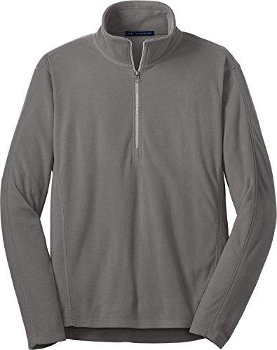 Port Authority Men's Microfleece 1/2 Zip Pullover - Pearl Grey F224 4XL