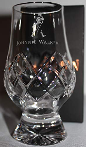 (JOHNNIE WALKER OFFICIAL GLENCAIRN CUT CRYSTAL SCOTCH MALT WHISKY TASTING GLASS)