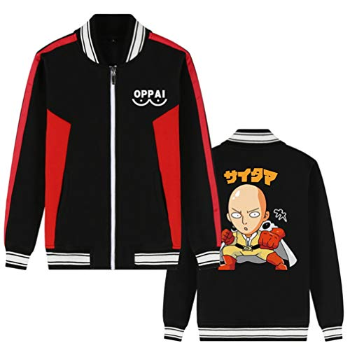 Cosstars Cappotto Adulto Felpa Cardigan 2 Zip One Nero Outwear Jacket Cosplay Baseball Punch Man Da Anime Giacca rEoCxBQdeW
