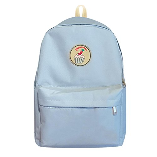 KONFA Girls Ladies Classic Preppy Style School Bag Women Travel Backpack Bag (Blue)