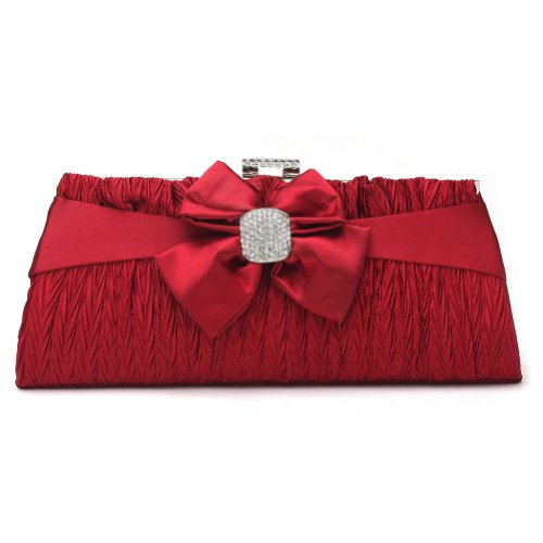 Handbag Gold Wedding Evening Clutch Damara Bag Lady Closure Women's Snap Pleated gvgxqawz